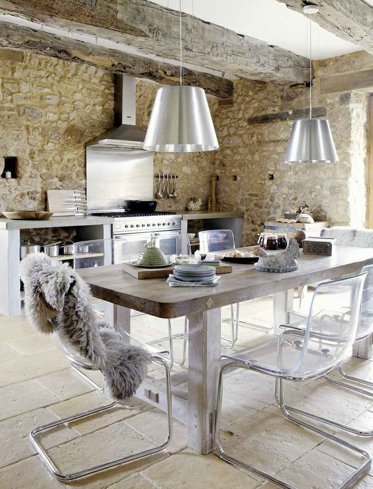 cocinas rústicas-fotos-estilo-muebles-modernos