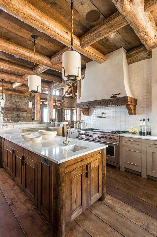 Cocinas r sticas 30 fotos originales para crear un espacio natural - Disenos de cocinas rusticas ...