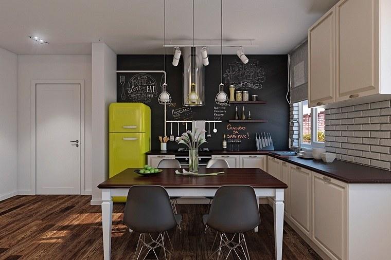 color-amarillo-cocina-diseno-frigorifico