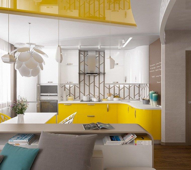 color amarillo-cocina-diseno-puertas-gabinetes-cocina