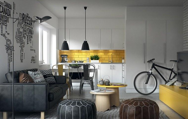 color amarillo-cocina-diseno-salpicadero-brillante