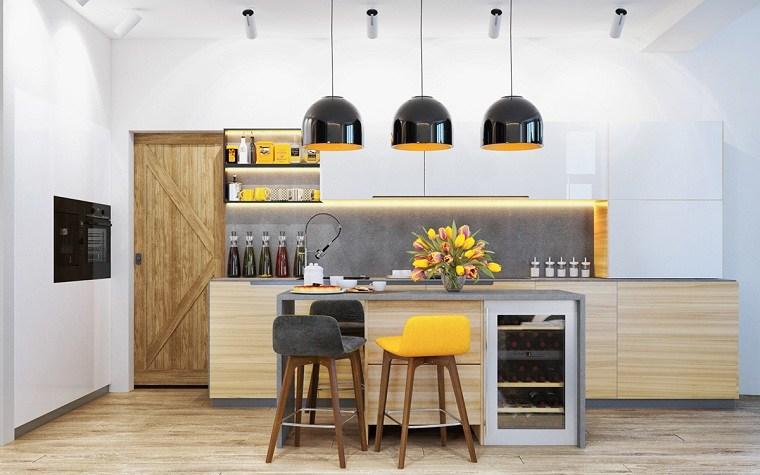 color amarillo-cocina-diseno-taburete-barra-detalle