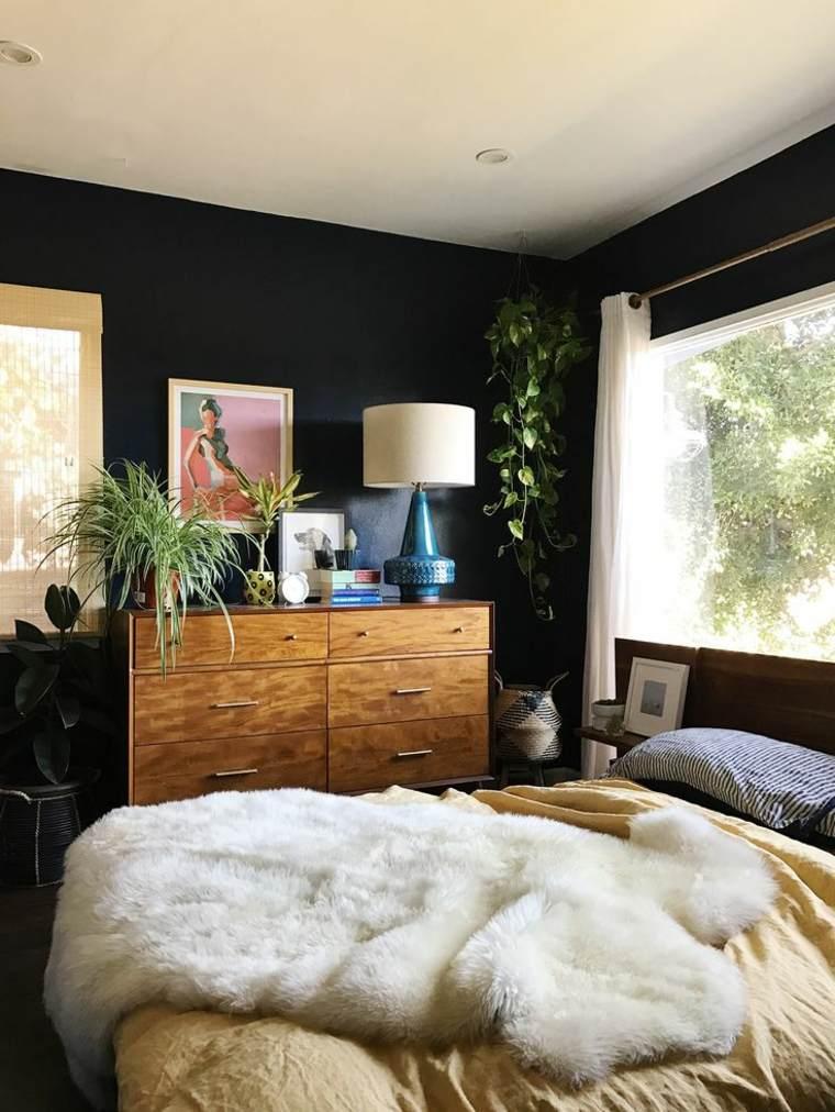 Colores para paredes de acento tonos oscuros para el - Colores para pared ...