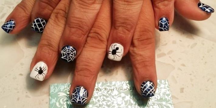 combinacion blnaco negro arañas