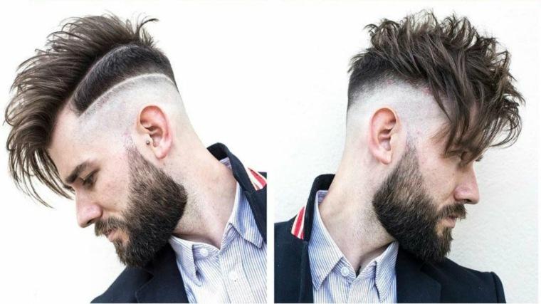 Cortes de pelo gris hombre