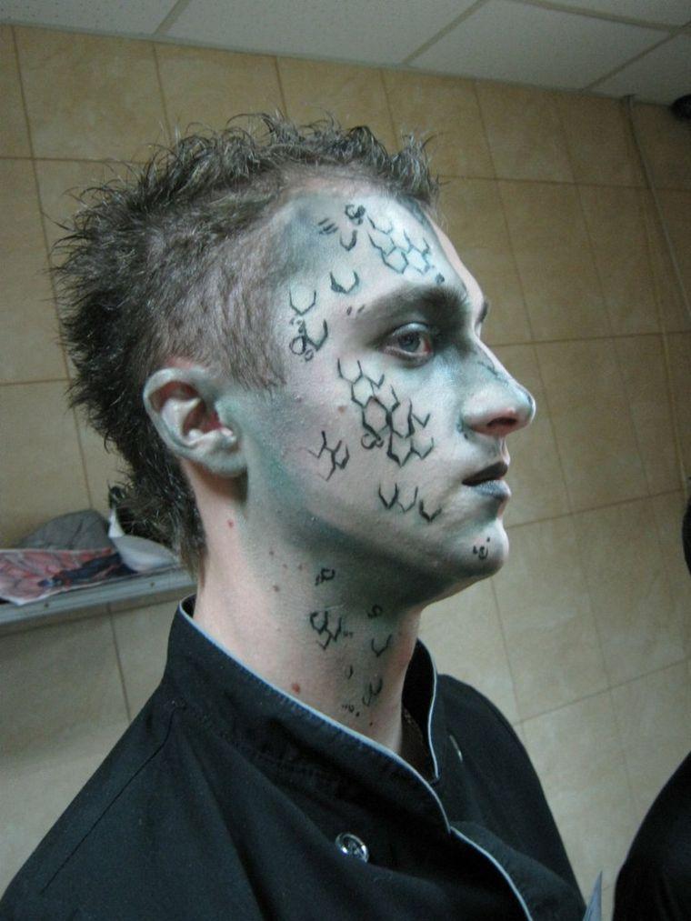 ideas de maquillaje de halloween hombre