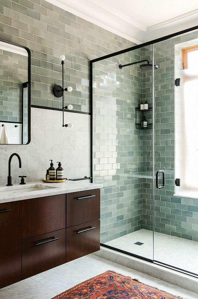 imágenes de baños modernos con azulejos