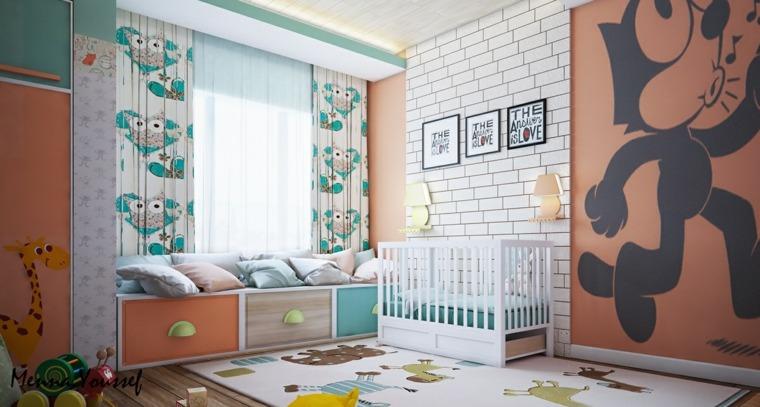 paredes de habitaciones de niños