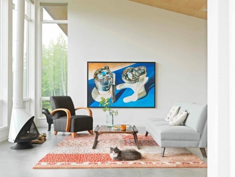 decoración de salones modernos-opciones-cuadro