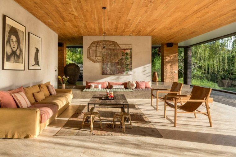 Decoraci n de salones modernos 50 espacios que reflejan - Salones coloniales decoracion ...