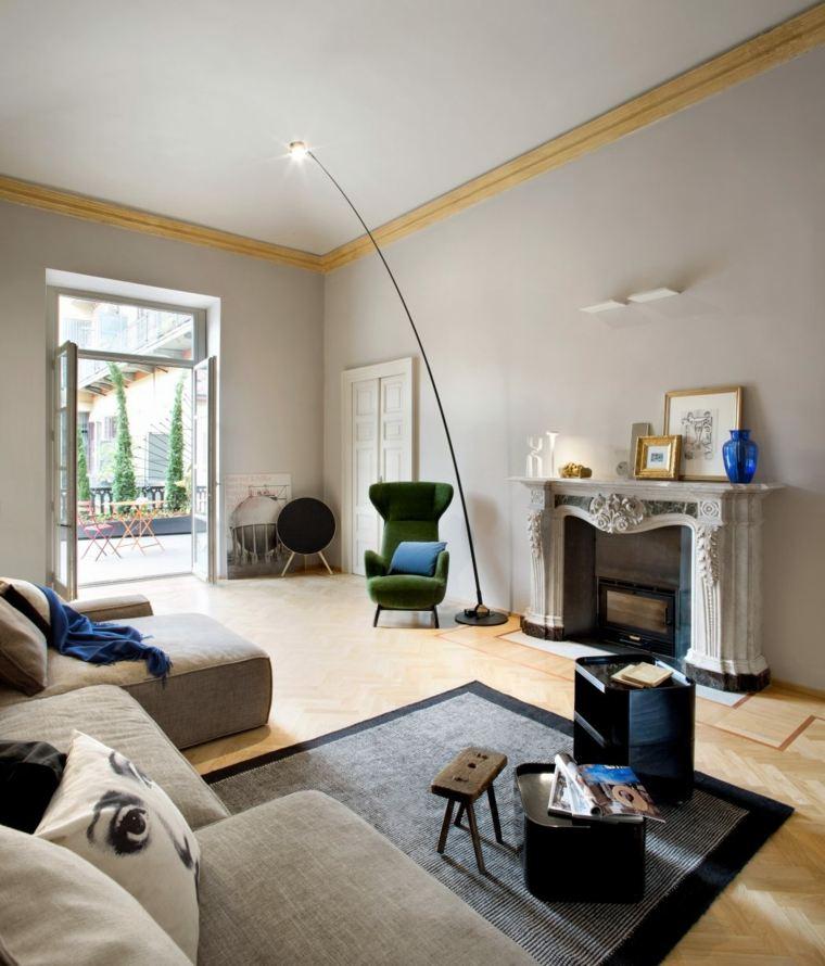 decoración de salones modernos-opciones-estilo