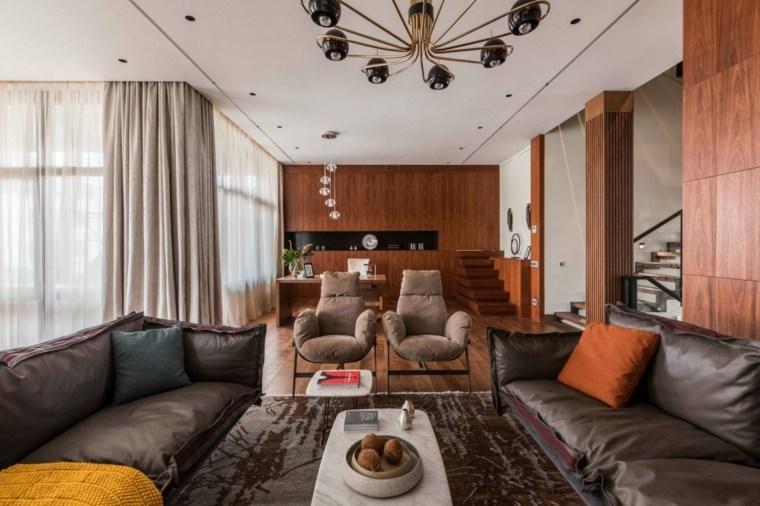 decoracion-de-salones-modernos-paredes-madera