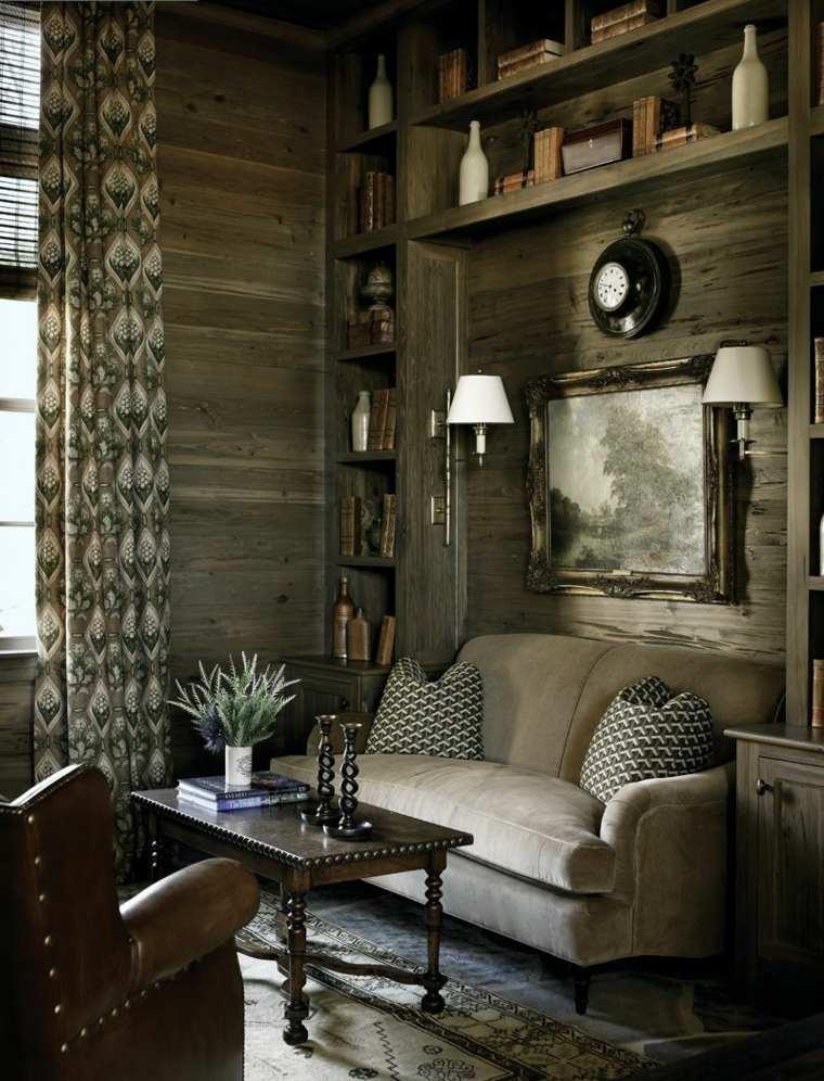 decoración de salones rústicos-espacios-refinados