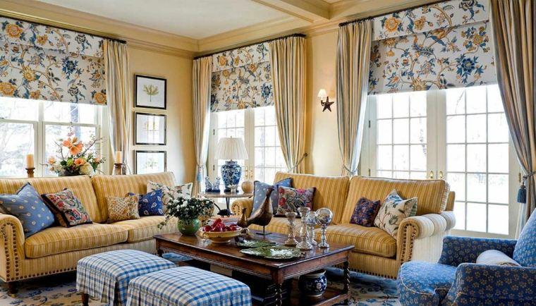 decoración de salones rústicos-estilo-combinacion-diseno-vintage