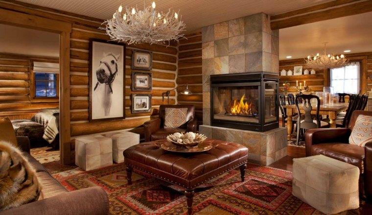 decoración de salones rústicos-habitacion-original