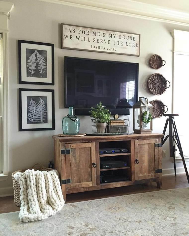 decoración de salones rústicos-ideas-muebles