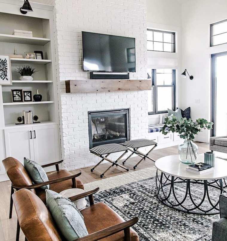 decoración de salones rústicos-muebles-originales