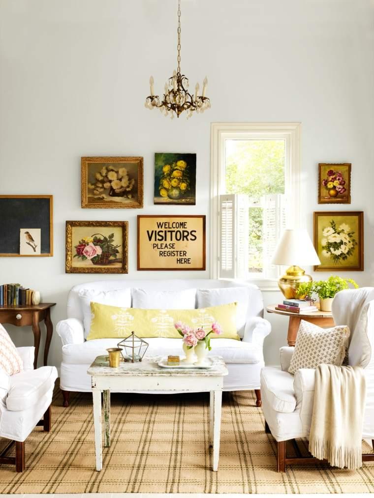 decoración de salones rústicos-opciones-espacios-pequenos
