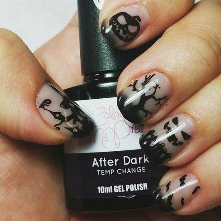 diseños de uñas medianoche diferentes