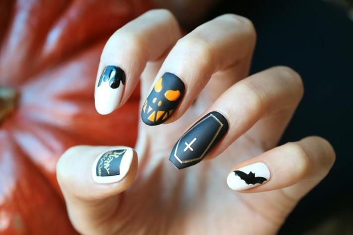 Diseños de uñas impresionantes, 40 ideas para Halloween