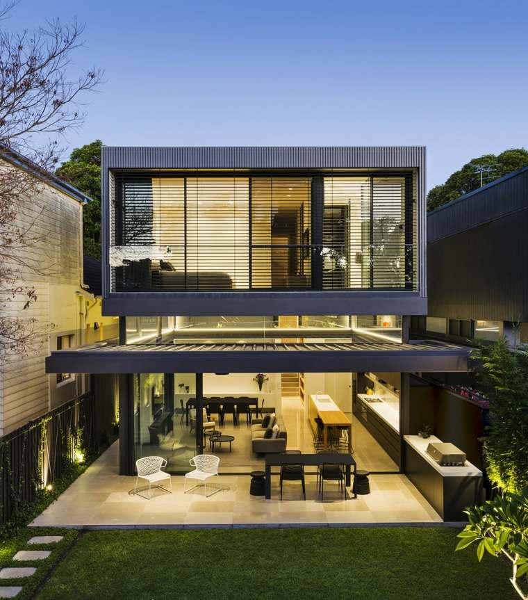 diseño de jardines estilo-moderno-cocina-exterior-Madeleine-Blanchfield-Architects