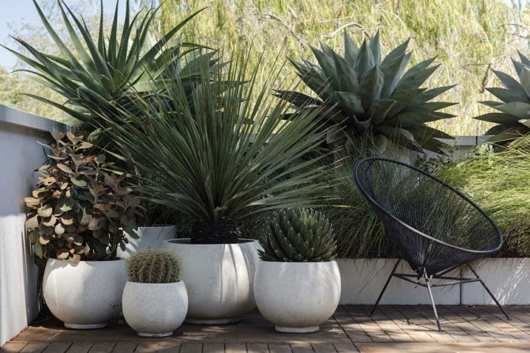 diseño de jardines-estilo-plantas-macetas-decoracion