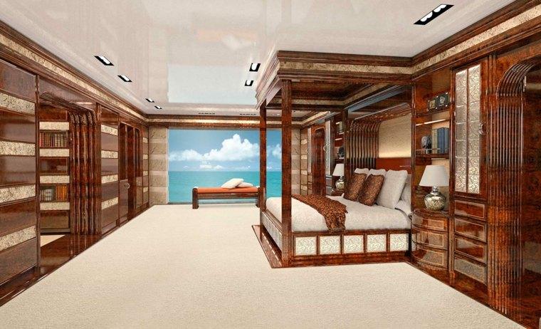 interior de yate de lujo