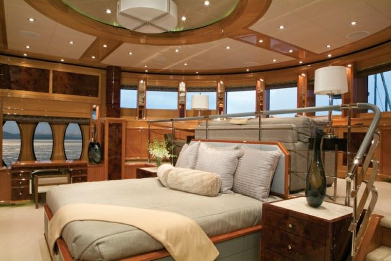 interior de yate lujoso