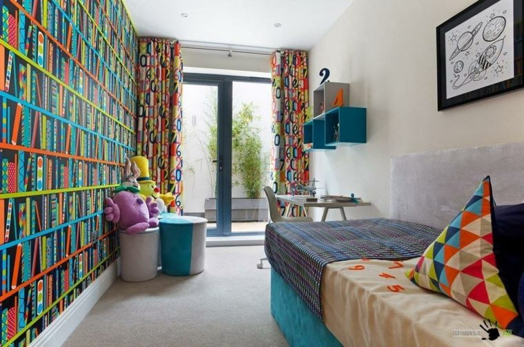 bonito diseño de dormitorio infantil