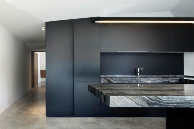 Encimeras cocina 66 ideas incre bles de encimeras de for Encimera marmol gris
