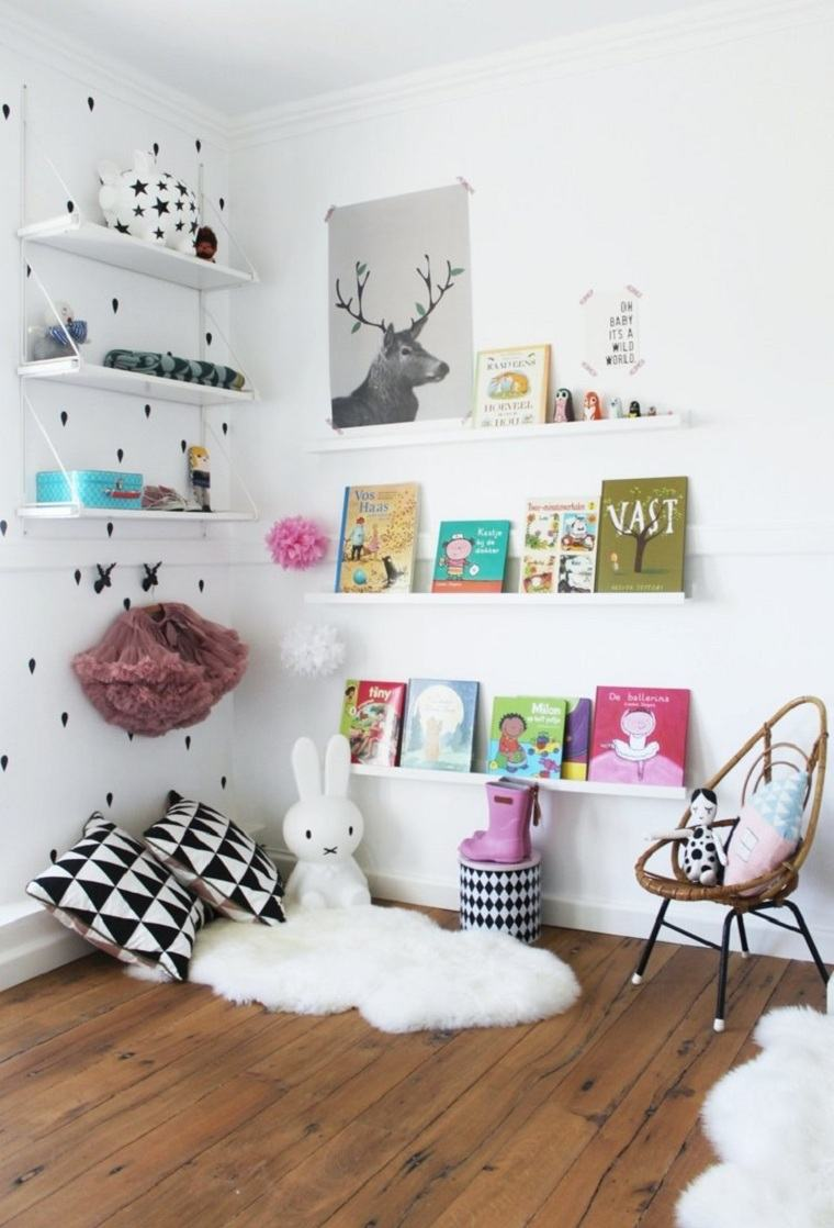 Habitaciones Infantiles Originales Ideas Para El Almacenamiento  ~ Estanterias Para Libros Infantiles