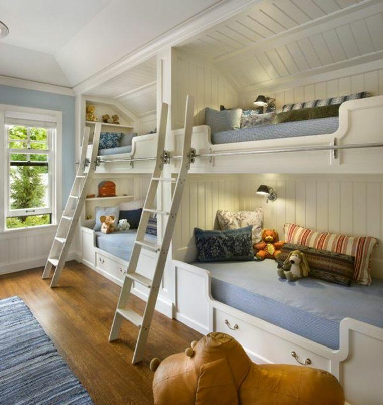 originales habitaciones compartidas con literas