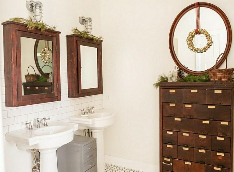 gabinete de boticario en el baño