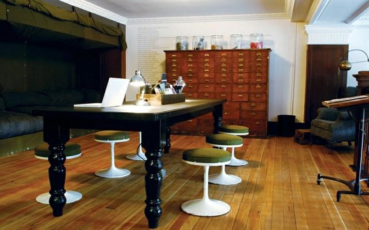 gabinete de boticario de madera