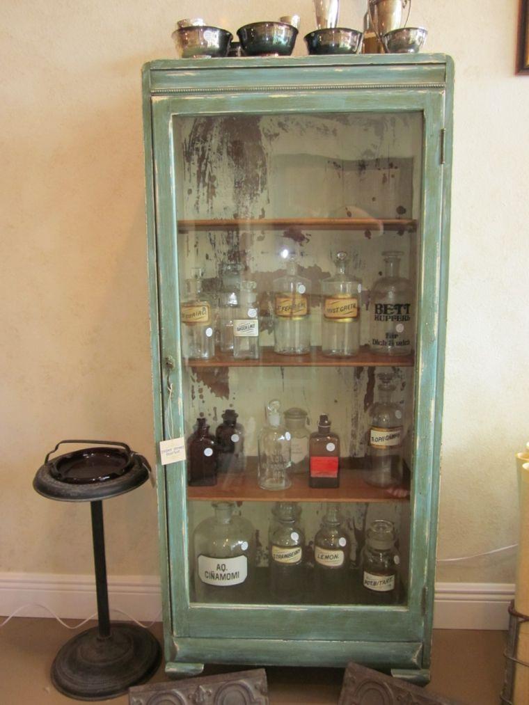 gabinete de boticario estilo vintage