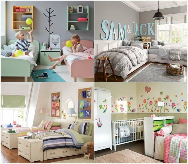 ideas para decorar habitaciones infantiles compartidas