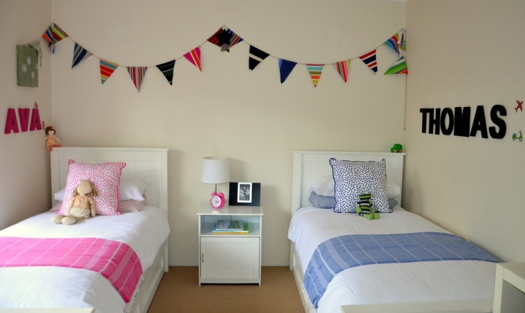 Habitaciones infantiles baratas divertidas y con mucho estilo - Dormitorios infantiles dobles ...