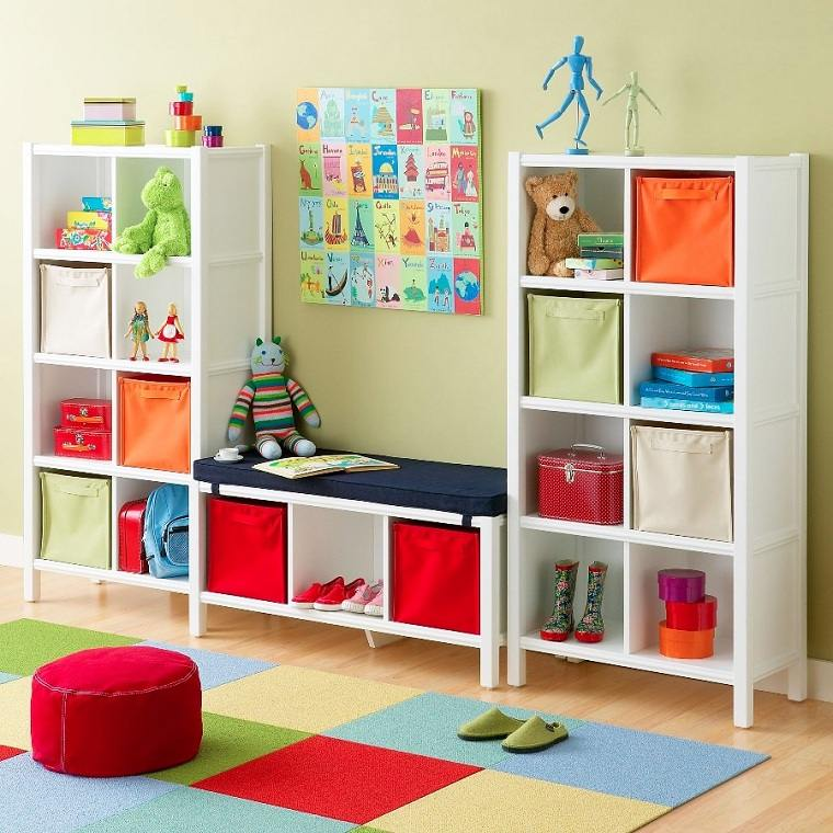 habitaciones infantiles originales-ideas-almacenamiento