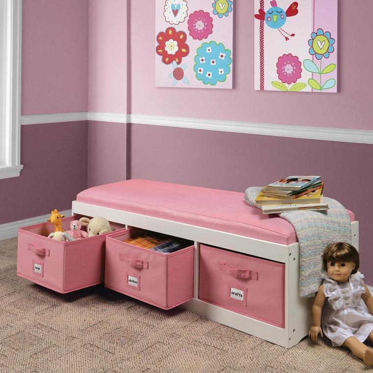 habitaciones infantiles originales-lugar-lectura-rosa
