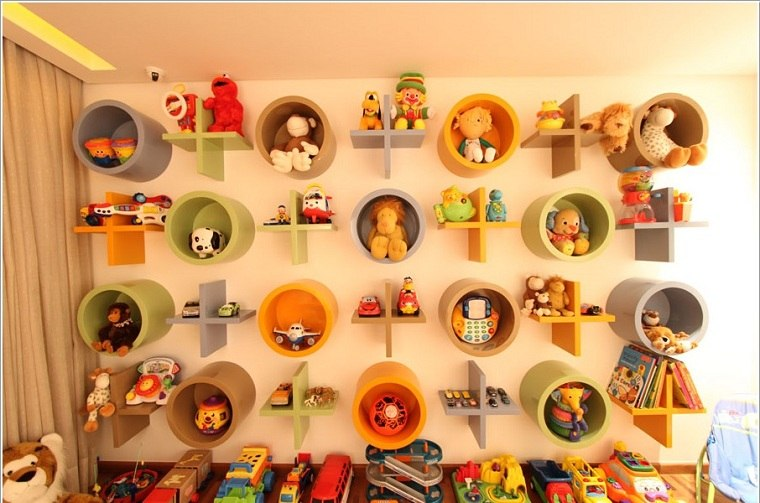 habitaciones infantiles originales opciones-estantes-unicos