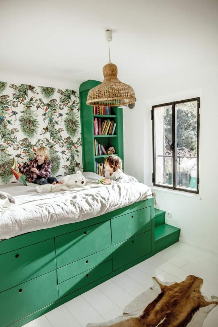 Habitaciones infantiles peque as con mucho encanto y estilo - Muebles infantiles para habitaciones pequenas ...