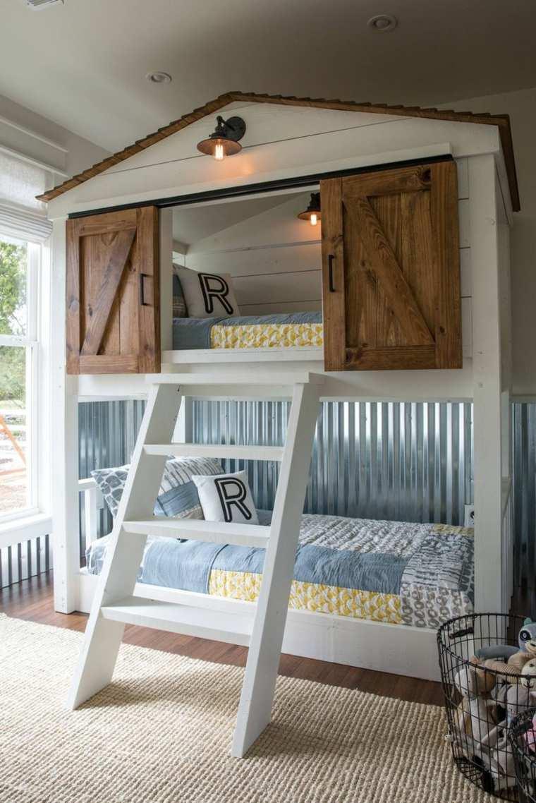Habitaciones infantiles peque as con mucho encanto y estilo - Habitaciones infantiles dobles poco espacio ...