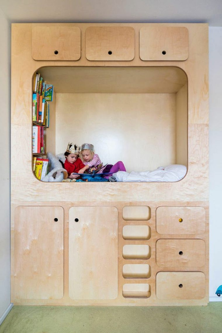 Habitaciones infantiles peque as con mucho encanto y estilo - Habitaciones infantiles compartidas pequenas ...