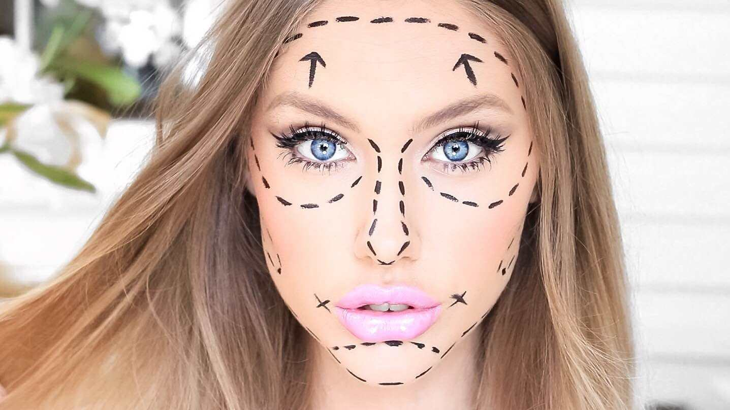 halloween makeup-barbie-cirugia-plastica
