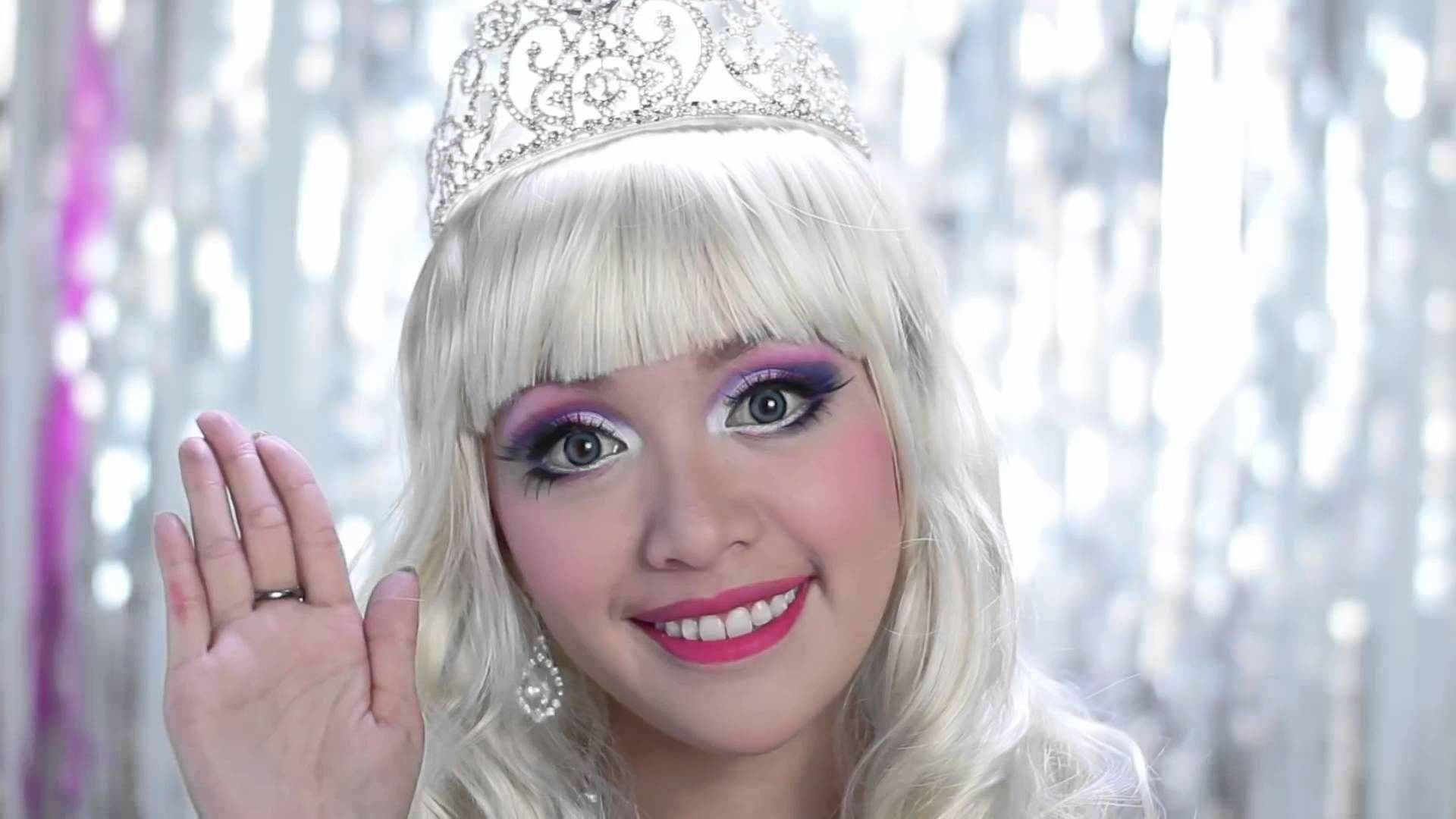 halloween makeup-barbie-princesa