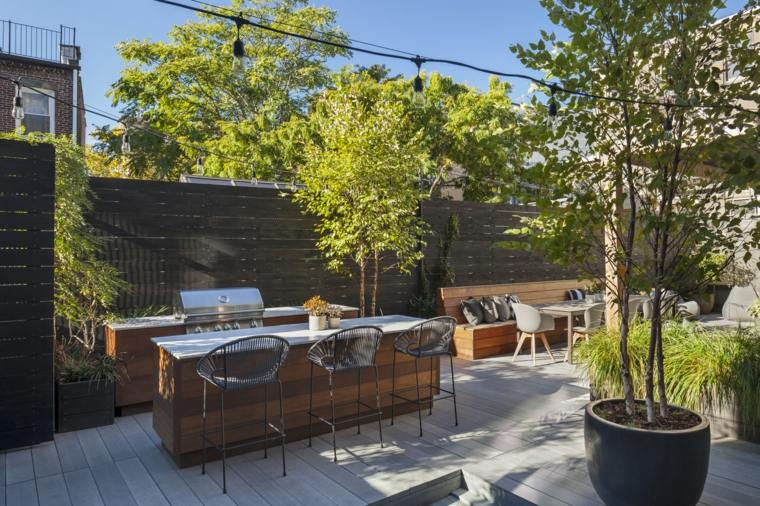 Dise o de jardines ideas inspiradoras en fotos que puede - Jardin con barbacoa ...