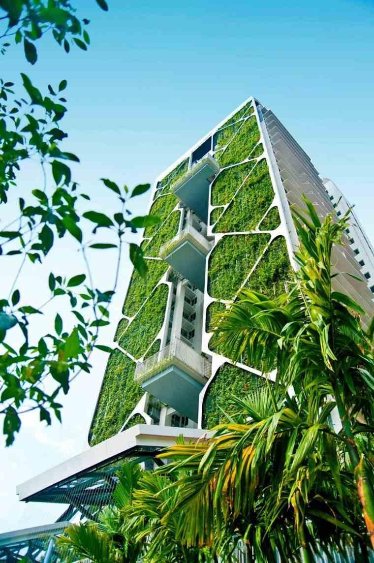 fachadas con jardines verticales