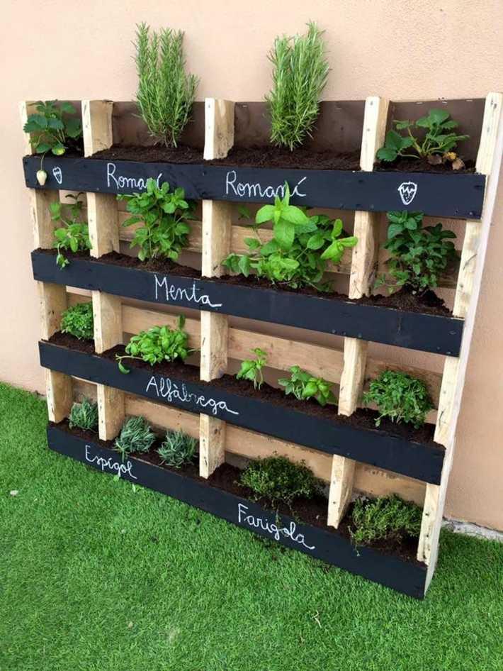 jardines verticales hierbas aromaticas