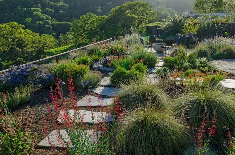 jardines zen exteriores-decorados-plantas-originales