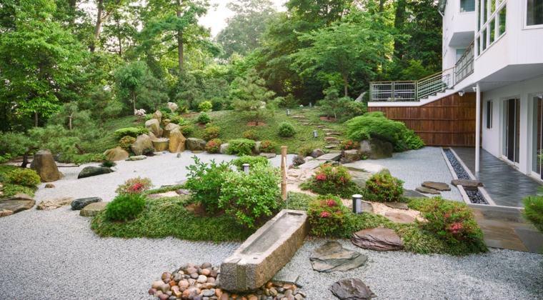 jardines-zen-exteriores-plantas-piedras-estanque